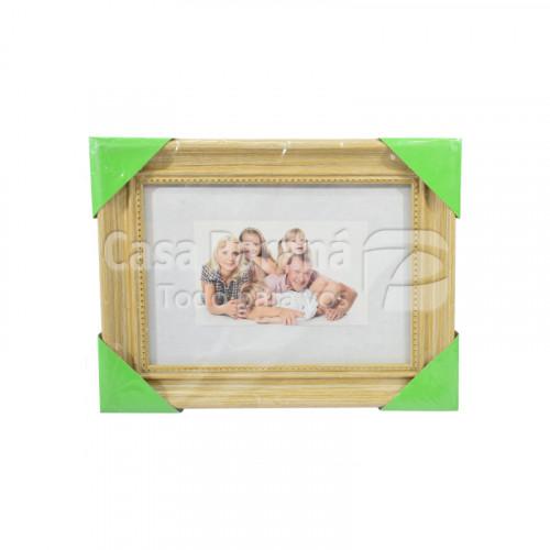 porta retrato de madera con raya 15x21