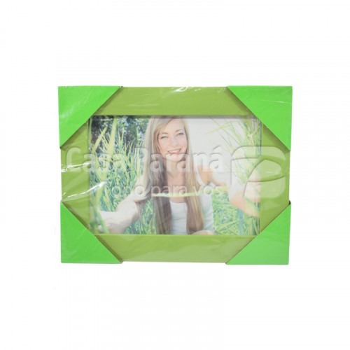 Porta retrato textura madera verde 13x18