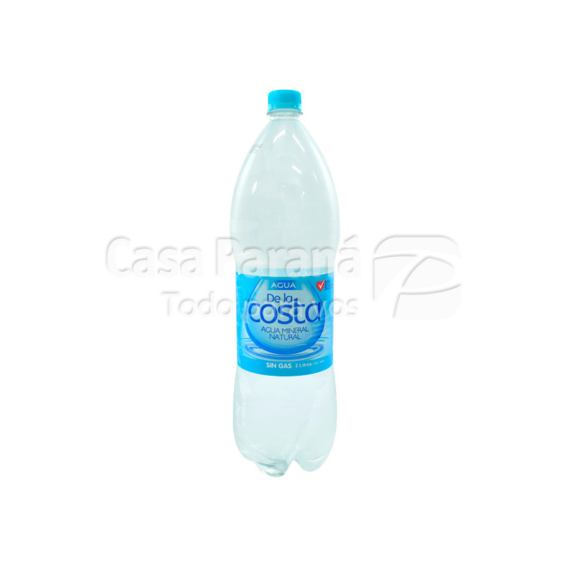 Agua mineral sin gas  DE LA COSTA 2 lts.
