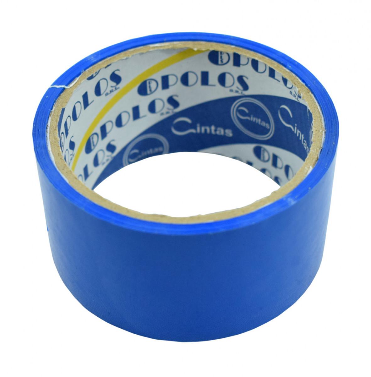 Cinta scotch coloridas 48x25cm azul