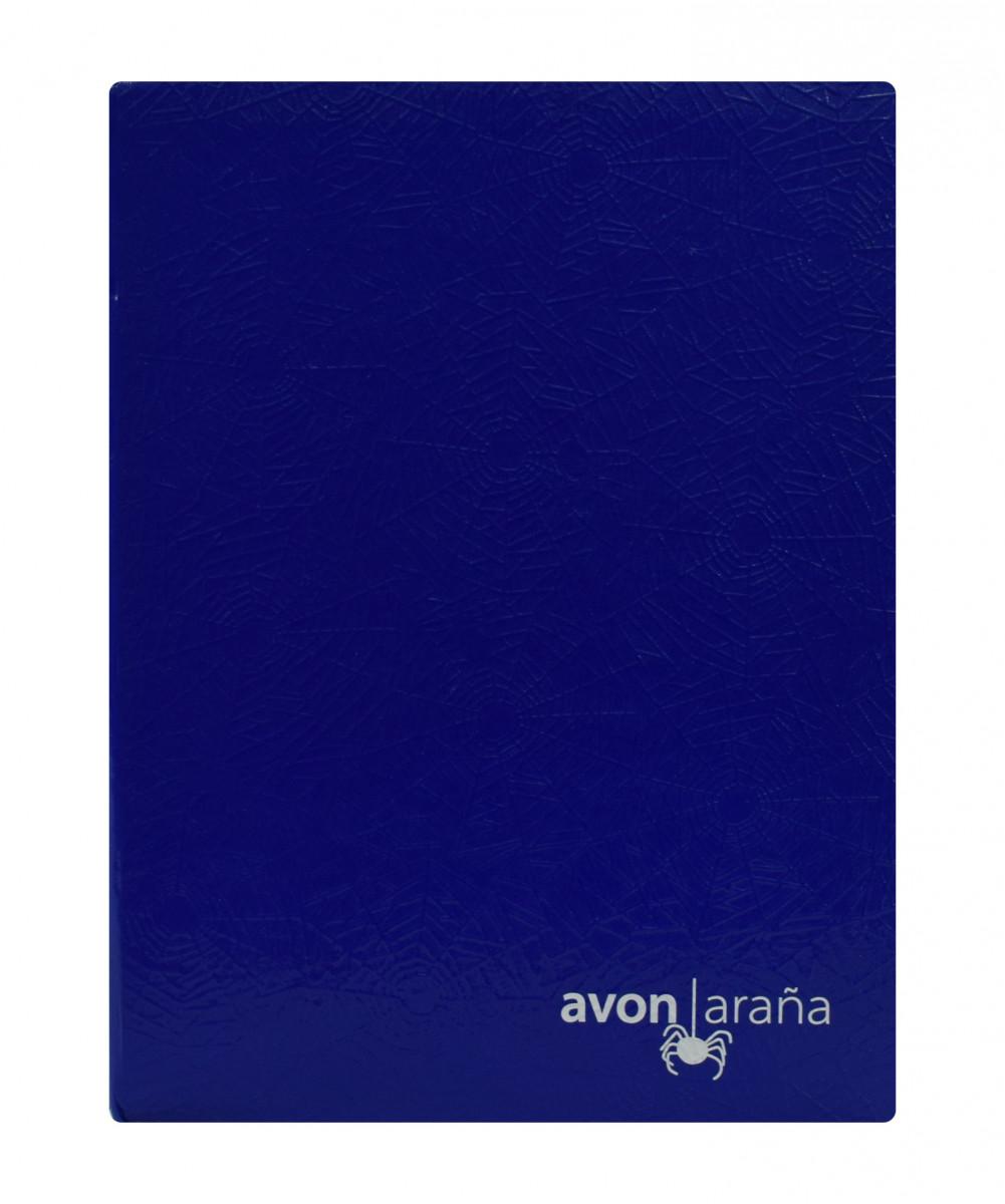 Cuaderno tapa dura arana 96 hojas 2 raya azul