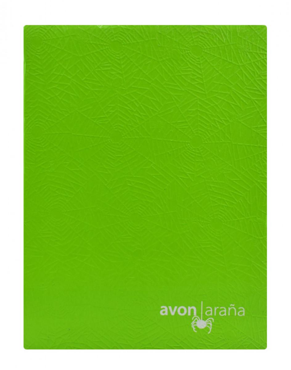 Cuaderno tapa dura arana 96 hojas 1 raya verde limon