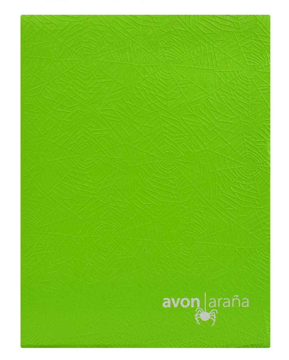Cuaderno tapa dura arana 96 hojas 2 raya verde limon