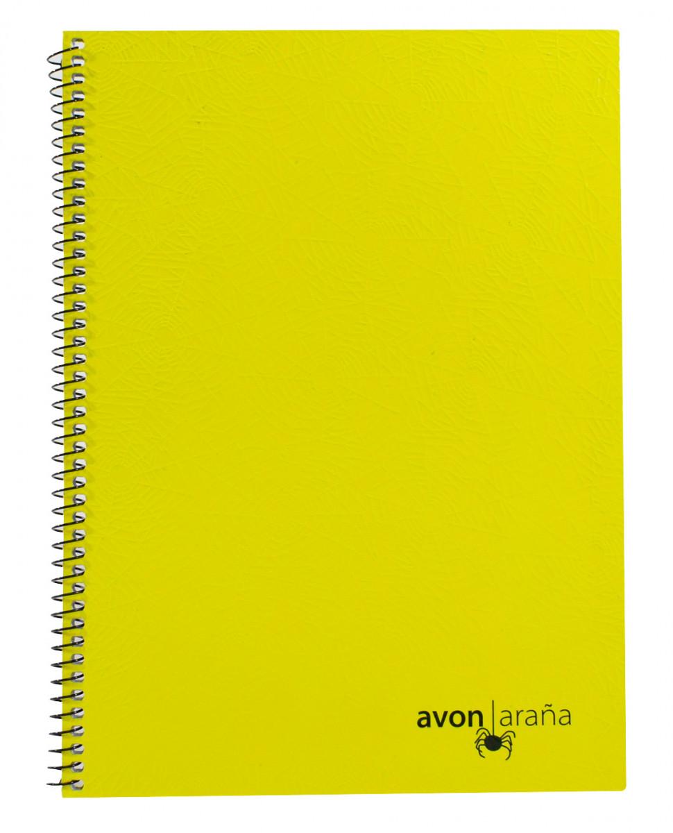Cuaderno univ. tapa dura 48 hojas arana amarillo