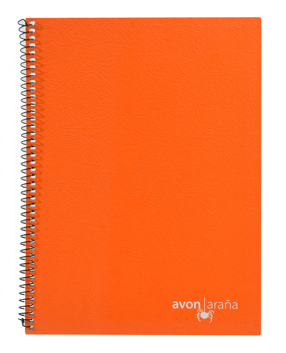 Cuaderno univ. tapa dura 48 hojas arana naranja