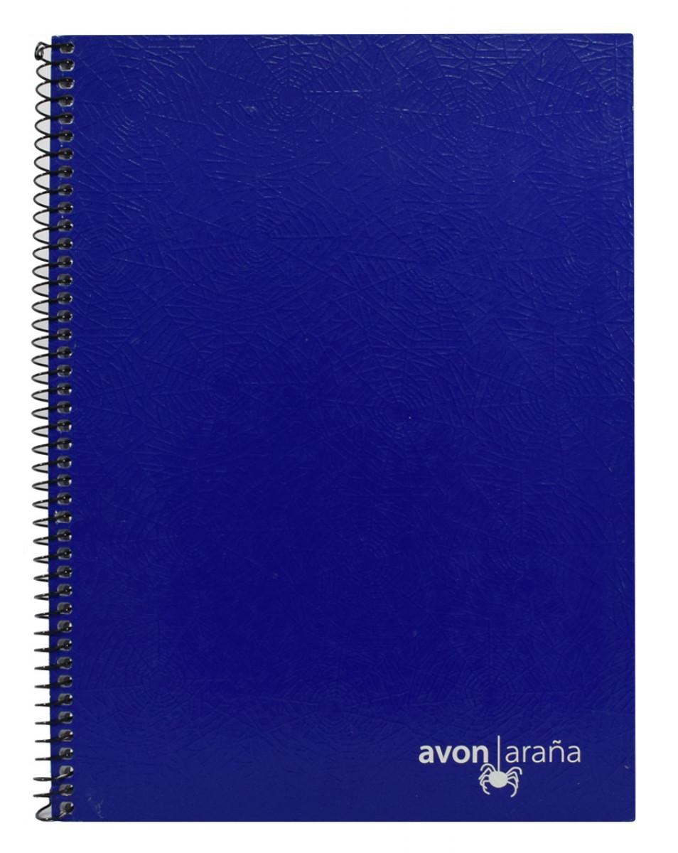 Cuaderno univ. tapa dura 96 hojas arana azul