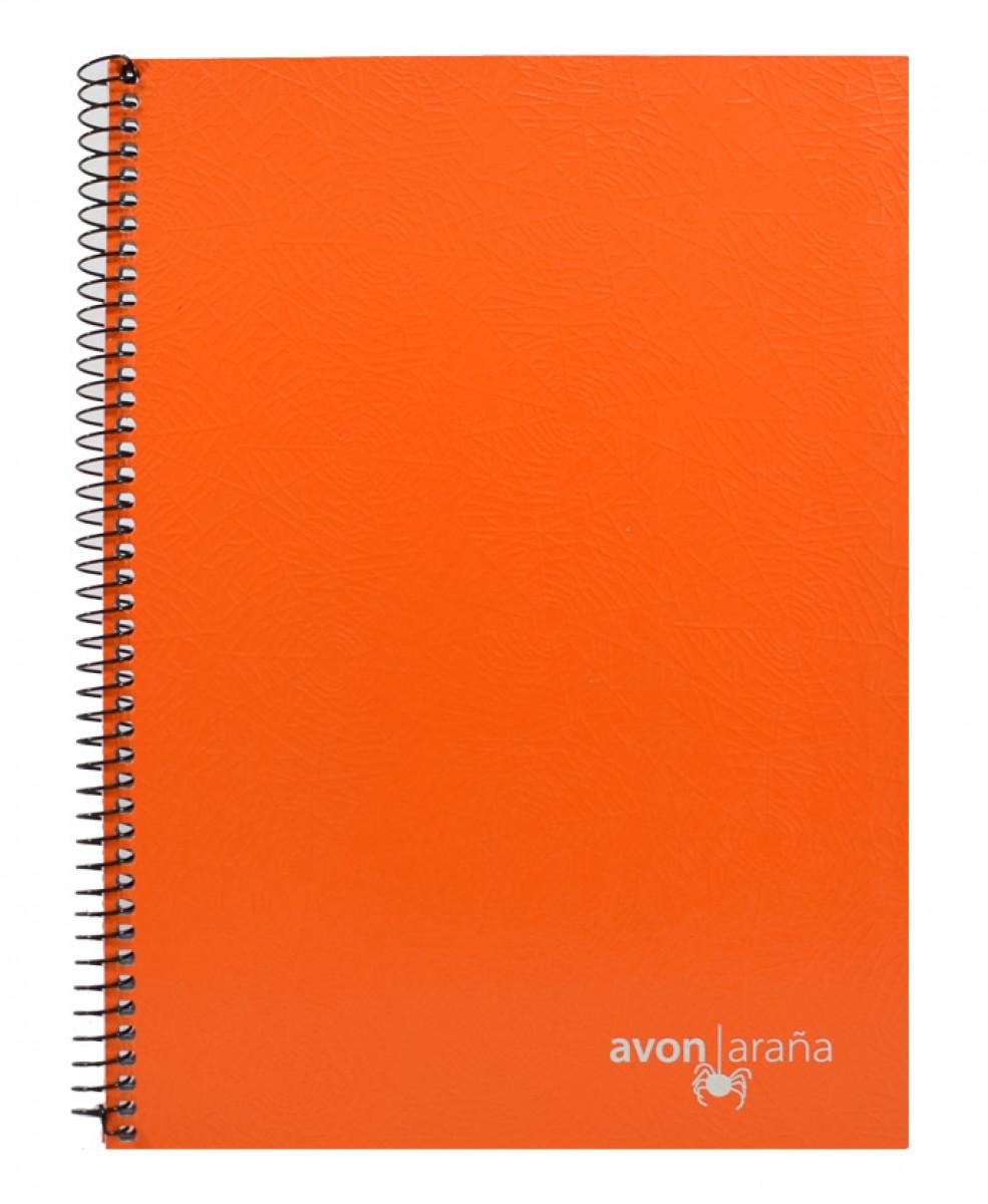 Cuaderno univ. tapa dura 96 hojas arana naranja