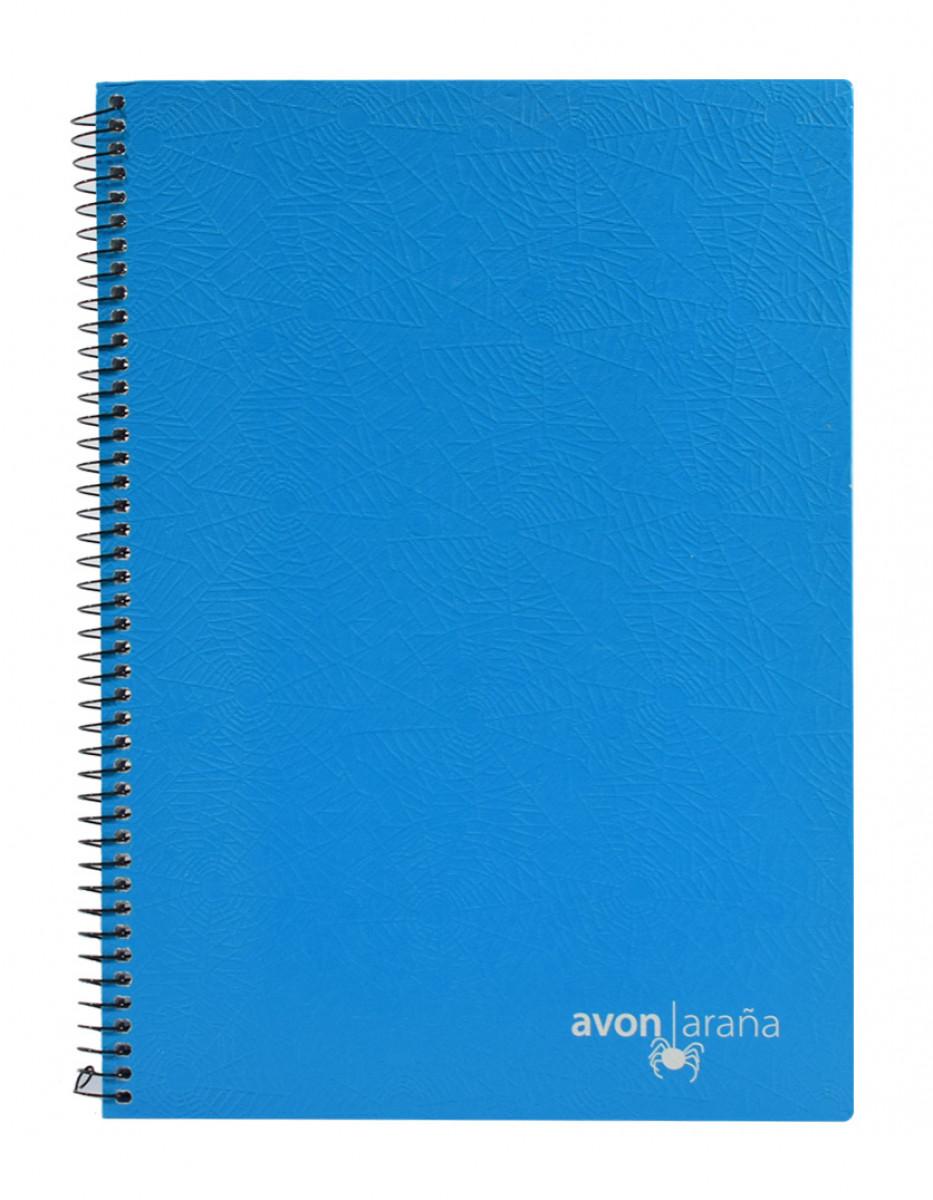 Cuaderno univ. tapa dura 96 hojas arana celeste