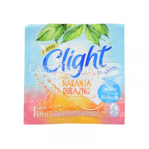 Refresco light naranja/durazno de 7g