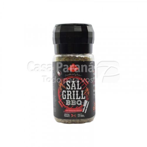 Sal grill BBQ entrefina 550 gr. Pote grinder Sal más especias seleccionadas