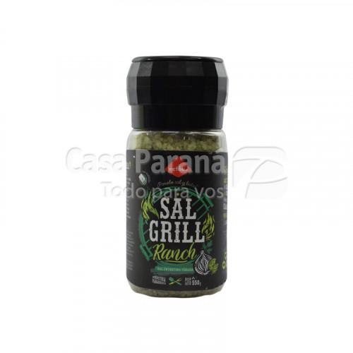 Sal grill RANCH entrefina 550 gr. Pote grinder. Sal mas hierbas y especias para todo tipo de comidas