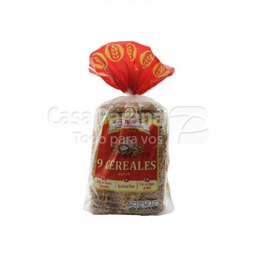 Pan para sandwich 9 cereales de 600gr.