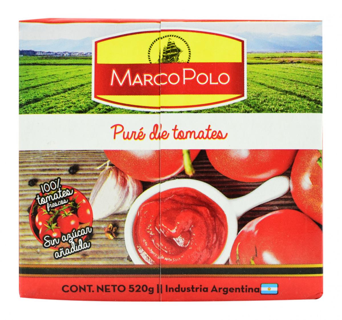 Pure de tomate Marcopolo 520gr.