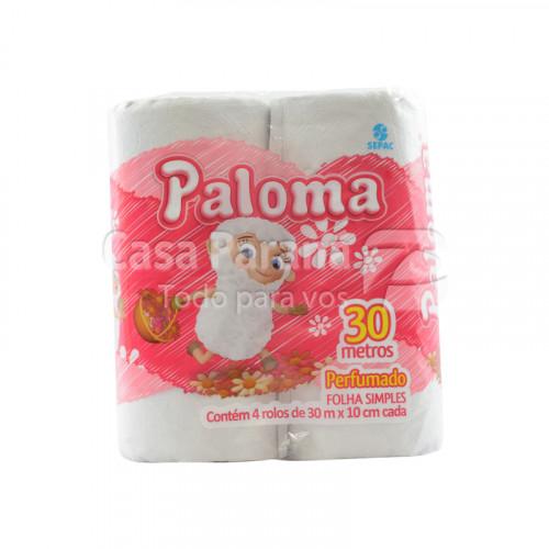 Papel higienico perfumado rosa hoja simple 30 mts 4pz