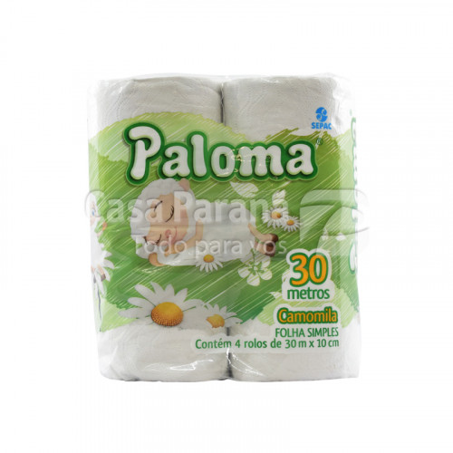 Papel higienico perfumado Camomila hoja simple 30 mts 4pz