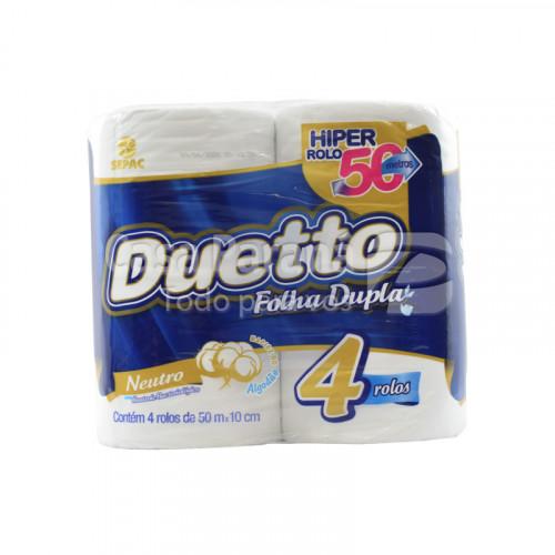 Papel higienico Neutro doble hoja 50 mts 4pz