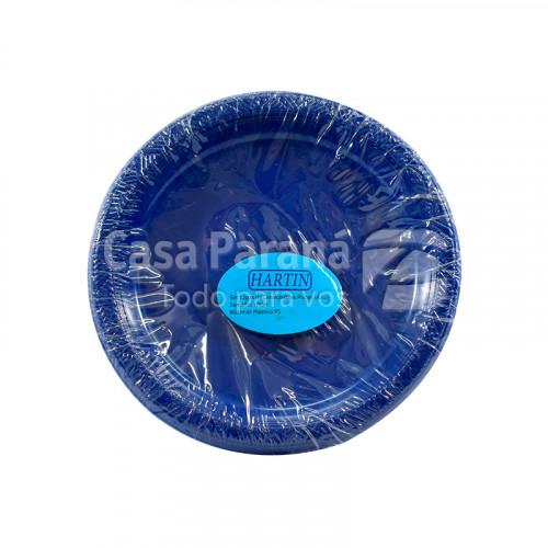 plato de plastico azul de 12 pzs