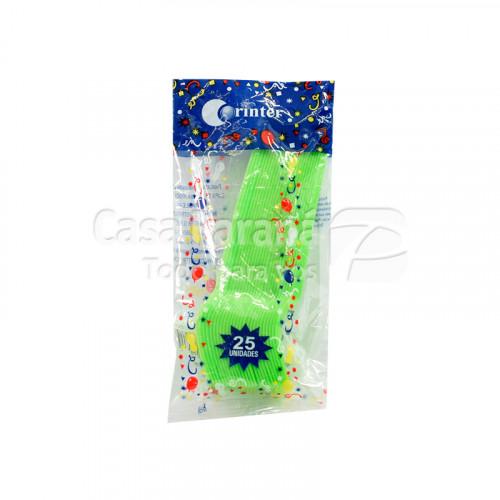 tenedor de plastico verde de 25 unidades