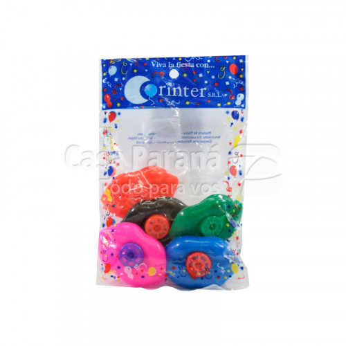 silbato multicolor de 5 unidades