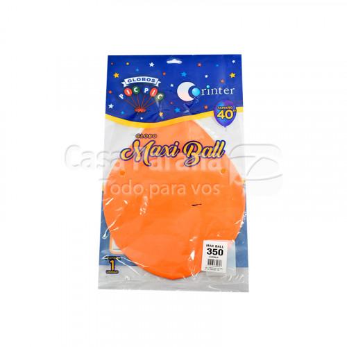 piñata naranja tamaño 40