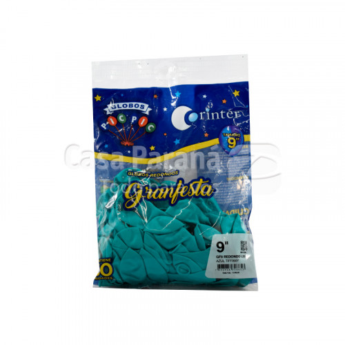 globo azul tiffany N°9 de 50 unidades
