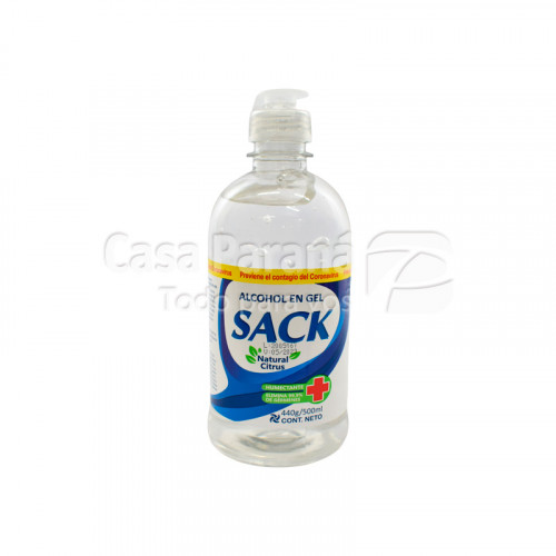 Alcohol en gel SACK 500 ml.
