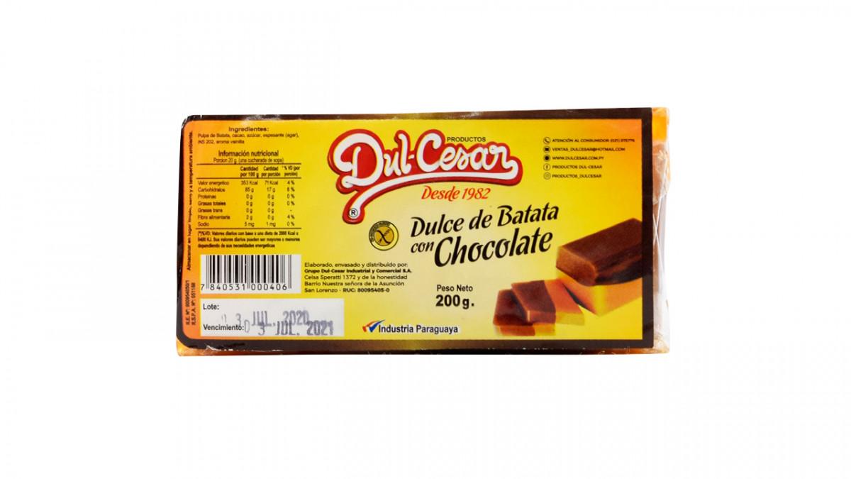 Dulce de Batata con chocolate 200gr.