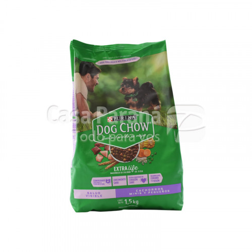 Purina Dog Chow salud visibles cachoros minis y pequeños 1,5kl.