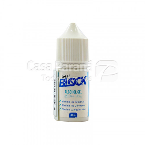 Alcohol en gel TOTAL BLOCK de 30ml