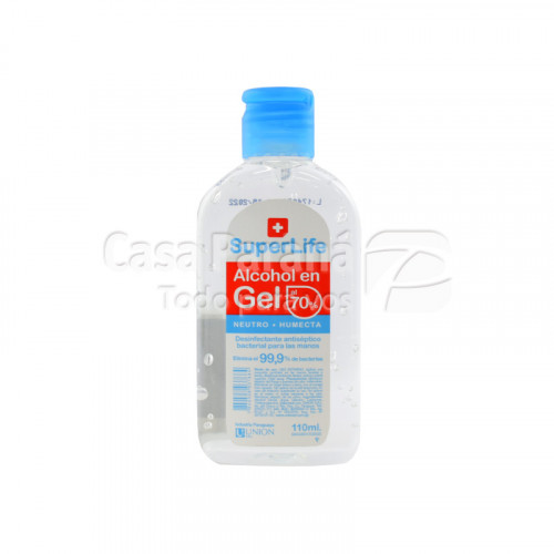 Alcohol en gel SUPERLIFE de 110ml con tapa