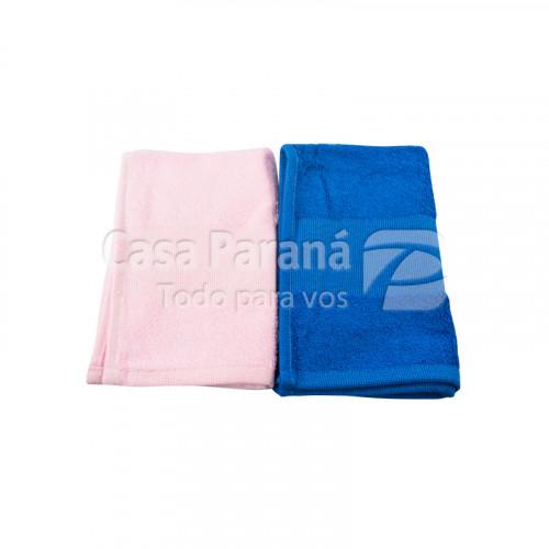 Toallita de mano color rosado y azul