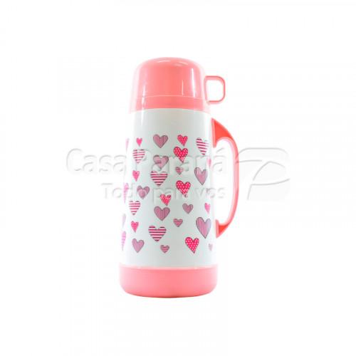 Termo de 1 litro diseño corazones