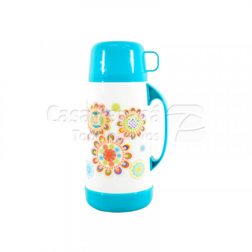 Termo de 1 litro diseño ñanduti