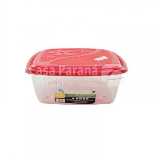 Caja versatil cuadrada de plastico de 2.5 litros