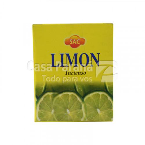 Incienso en forma de cono de limon