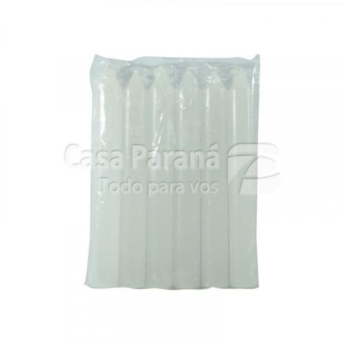 Paquete de velas color blanco de 6 unidades