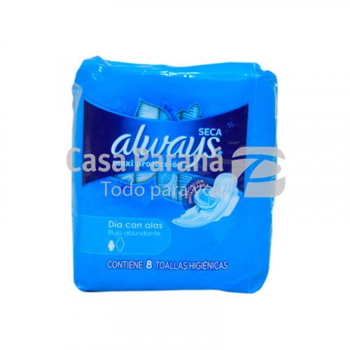Toallita higienica normal con alas 8 unidades