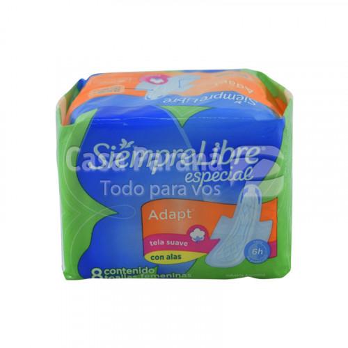 Toalitas higienicas especial con ala 8unidades