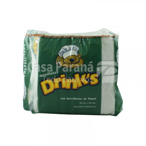 Servilleta de papel DRINKS 100hojas