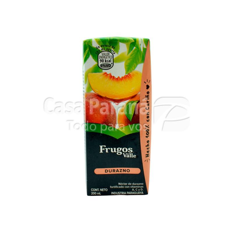 Jugo FRUGOS DEL VALLE durazno tetra pack 200 ml.