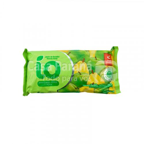 Jabon de tocador color verde fragancia manzana y pera