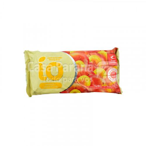 Jabon de tocador color amarillo fragancia mango y mburucuya de 80 gr