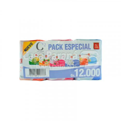 Jabon de tocador C2 en pack de 85 gr