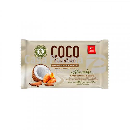 Jabon de tocador fragancia coco y almendras de 100 gr