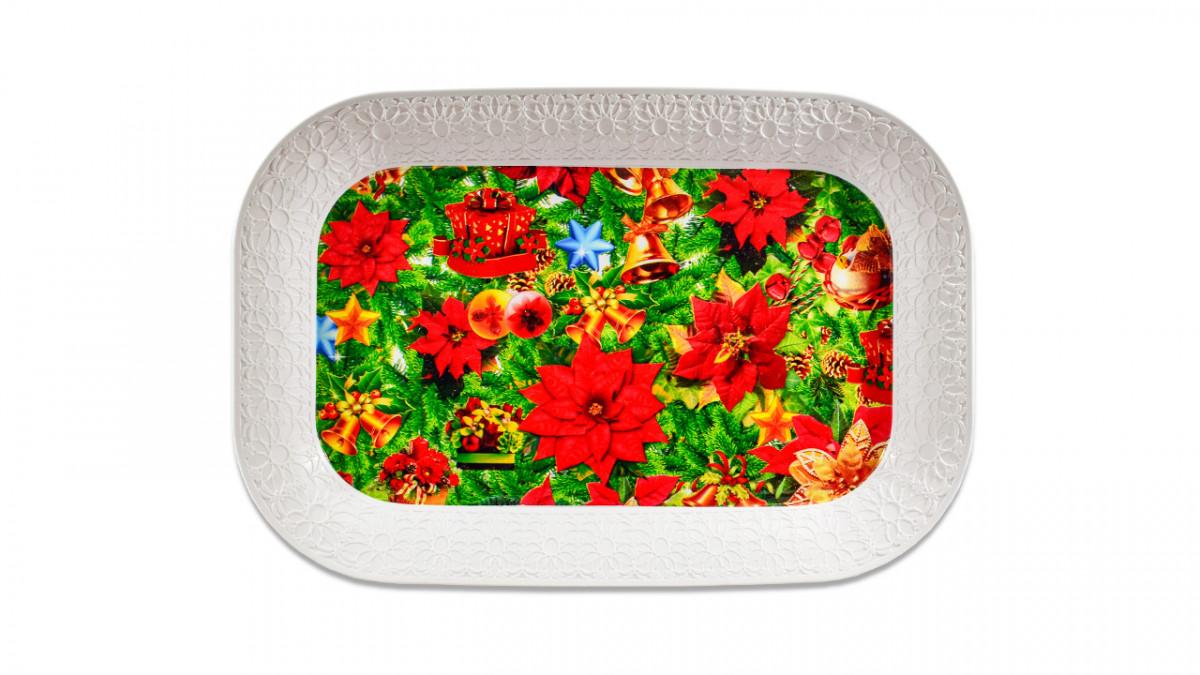 Bandeja de melamina rectangular 35cm