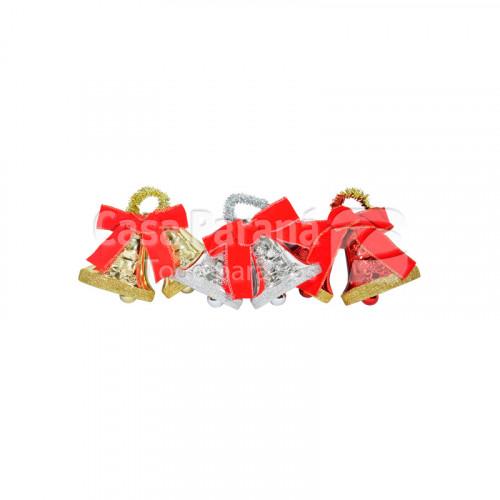 Adorno navideño en forma de campana