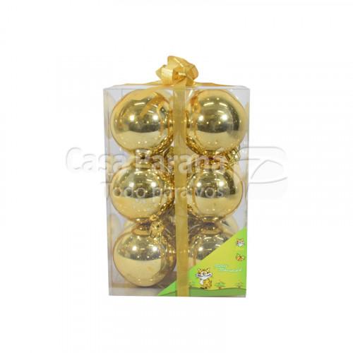 Globos de 12pz color dorado