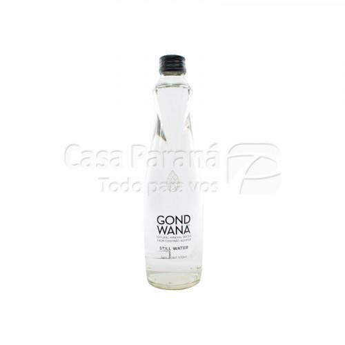 Agua mineral sin gas de 370ml en botella de vidrio