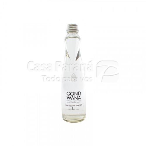 Agua mineral con gas de 370ml en botella de vidrio