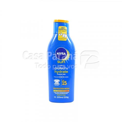 Protector solar hidratante 15 fps de 200 ml